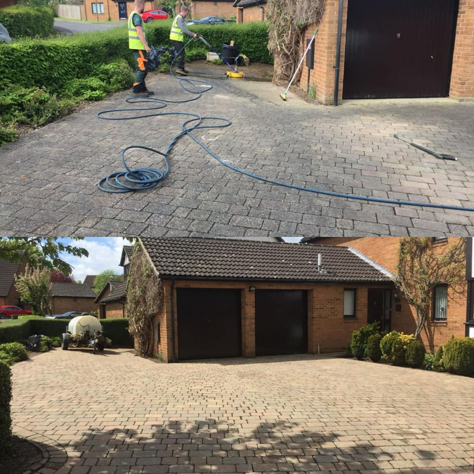 Jet Washing Before and After