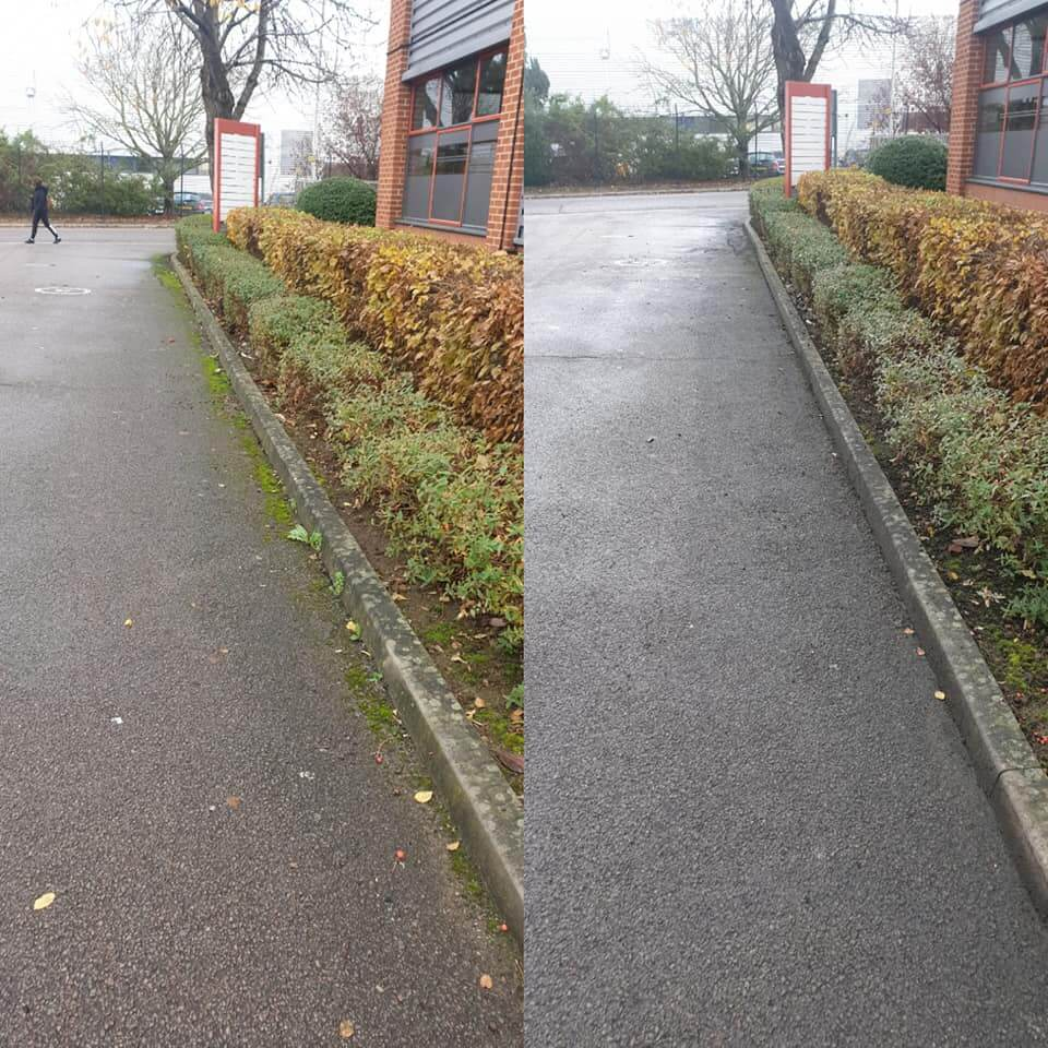 curb moss removal
